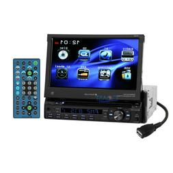 "Planet Audio 7"" Motorized Touchscreen DVD USB Bluetooth Car"