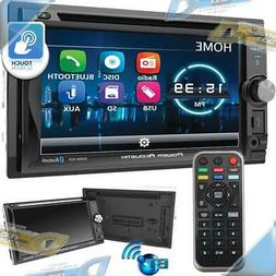 "NEW POWER ACOUSTIK 6.2"" 2-DIN In-Dash Touchscreen DVD/CD Ca"