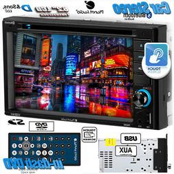 """NEW PLANET AUDIO 6.2"""" In-Dash Double-DIN DVD/CD/USB Car Ster"""