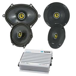 """New Pair Of Kicker 6X8"""" Car Stereo Speakers With 2x 6.75"""" Sp"""