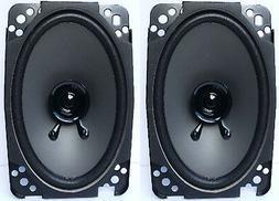 "Pair 4"" x 6"" Dual Cone Car Stereo Audio SPEAKERS Factory OEM"