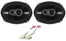"""1 Pair Kicker DSC6934 D-Series 6x9"""" 360 Watt 3-Way Car Audio"""