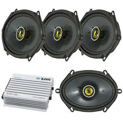 """Pair Of Kicker 46CSC684 6X8"""" Car Stereo Speaker With 400w Bl"""