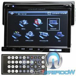 "POWER ACOUSTIK PD-710B 7"" SCREEN CD DVD BLUETOOTH USB AUX 30"