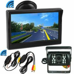 Pickup Truck Trailer Wireless IR Night Vision Backup Camera