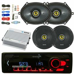 Pioneer Bluetooth Car CD Stereo, 400W Amp and Kit, Kicker 6x