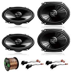 "4 x Pioneer TS-G6845R 250W 6x8"" 2-Way Car Audio Speakers, 2"