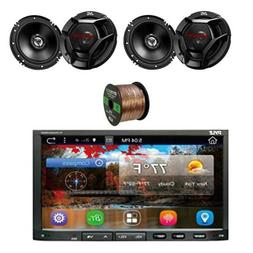 Pyle Car Stereo 2-Din Receiver w/2-WAY Coaxial Speakers Syst
