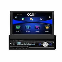 Regetek Single Din Car Stereo 7 inch Bluetooth Audio Video P