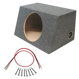 "Sealed 10"" Car Audio Hatch Subwoofer Enclosure Stereo Bass S"