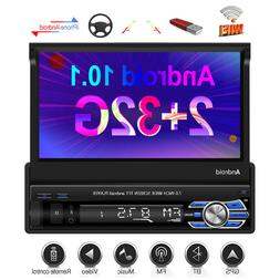 """Single 1 Din 7"""" Android 10.1  Car Stereo Radio GPS Flip Out"""