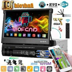 """Single 1 Din 7"""" Android 10.1  Flip Out Car Stereo Radio GPS"""