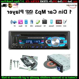 Single 1 Din Car DVD CD MP3 Player FM Audio Radio BT USB/AUX