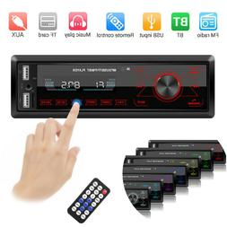 Single 1 DIN Car Stereo MP3 Player In Dash Bluetooth AUX-in
