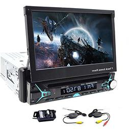 Single 1 Din Car Stereo GPS Navigation 7 Inch Touchscreen In
