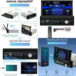 Regetek Single Din Car Stereo 7 Inch Bluetooth Car Audio Vid