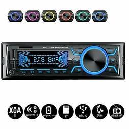 1DIN Car Stereo Audio MP3 Player Bluetooth AUX 2 USB TF Radi