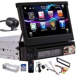 Single Din Car Stereo Radio DVD Player Bluetooth GPS Navigat