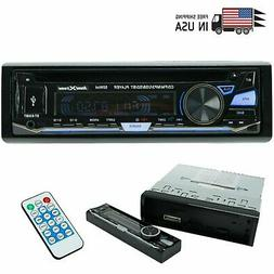 SoundXtreme Single-DIN CD Car Stereo Bluetooth, USB SD & Aux