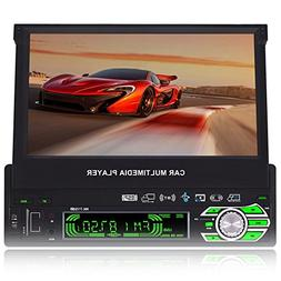 7.0-Inch Single Din In-Dash Flip Out Touch Screen Car Stereo