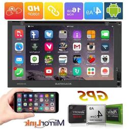 """Smart 7"""" Android 6.0 Double 2DIN Car Radio Stereo DVD Player"""