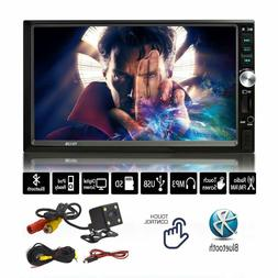 7-Inch Stereo Touch Screen Double Din Radio with Bluetooth -