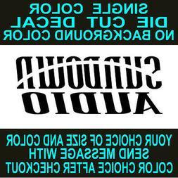 Sundown Audio Car Stereo vinyl decals. car, window, toolbox