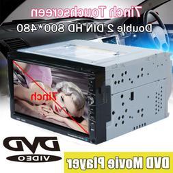 "Touch Screen 7"" 2 DIN Car Stereo Radio In-dash FM/USB/SD CD"