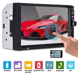 Universal Car Stereo Mirror Link Essgoo Double Din Car FM Ra