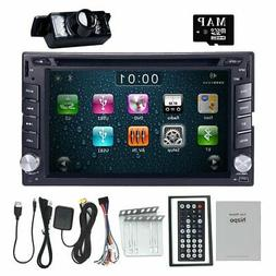 HIZPO 6.2 Inch Universal Double 2 Din In Dash Car CD DVD Pla
