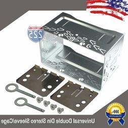 Universal Double DIN Car Stereo Radio Sleeve Cage Mounting K