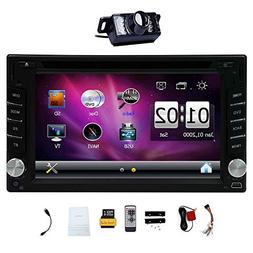"""Upgarde Version With Camera ! 6.2"""" Double 2 DIN Car DVD CD V"""