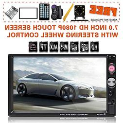 Upgraded 7 Inch Double Din Touch Screen Car Stereo Headunit
