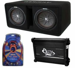 Kicker 10-Inch 1600W Vented Dual Loaded Enclosure Subwoofers