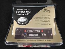 Vintage High Power AM-FM Cassette Car Radio W/Front Panel Au