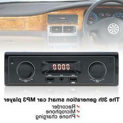 Vintage LED Car Stereo Radio In-Dash MP3 Player TF SD USB AU