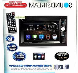 "Soundstream VR-620B 2-Din Touchscreen DVD/CD/SD 6.2""LCD Blue"