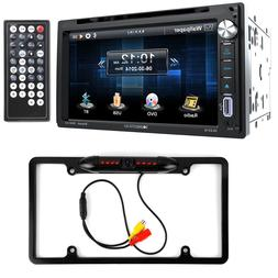 Soundstream VR-651B Double DIN DVD/Bluetooth/CD Car Stereo &