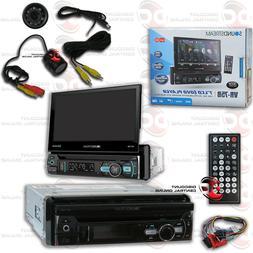 "SOUNDSTREAM VR-75B DIN DVD BLUETOOTH STEREO W/ MOTORIZED 7"""