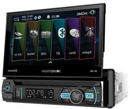 """Soundstream VR-75B Single DIN Bluetooth DVD Car Stereo w/ 7"""""""