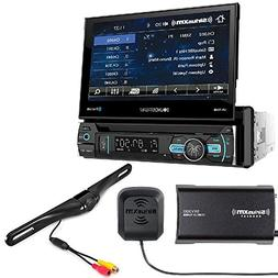 SOUNDSTREAM VR-75XB CAR 1DIN DVD CD Bluetooth Stereo W/Motor