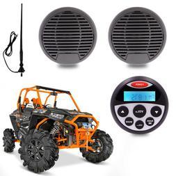 "waterproof Radio marine stereo Bluetooth 2 black 3"" car Boat"