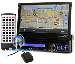 XO Vision XOD177NAV 320W 7-Inch Touch Screen Motorized DVD R