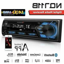 NAKAMICHI NQ711B 1-DIN Bluetooth USB AUX Radio Car Stereo Di